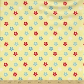 Amelie Cotton Fabric - Yellow Floral