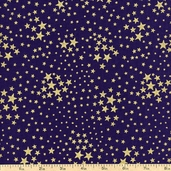 American Heroes Star Toss Cotton Fabric - Blue 36047M-1