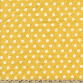 American Vintage Dots Cotton Fabric - Yellow 30684-4