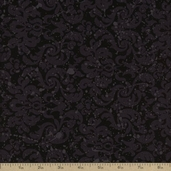 Amethyst Cotton Fabric - Black 3925-60254-8