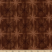 Among the Pines Compass Cotton Fabric - Brown 1828-82405-222W
