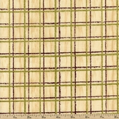 Among the Pines Grid Cotton Fabric - Cream 1828-82406-172W