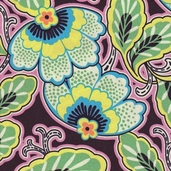 Amy Butler Lark Floral Couture Cotton Fabric - Pitch
