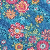 Amy Butler Lark Heirloom Cotton Fabric - Blue Sky