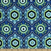 Amy Butler Lark Treasure Box Cotton Fabric - Ocean PWAB074