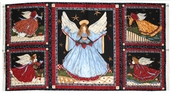 Angels From Above Cotton Fabric Panel