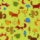 Animal Party Too Cotton Fabric - Earth - AAS-10959-169