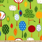 Animal Party Too Trees Cotton Fabric - Summer
