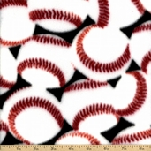 Anti Pill Velour Baseball Fleece Polyester Fabric - Black