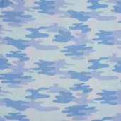 WinterFleece Fabric - Camo Polyester Fabric - Blue