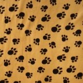 WinterFleece Fabric - Paws Polyester Fabric - Camel
