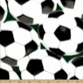 Anti Pill Winter Fleece Soccer Balls Polyester Fabric - Green