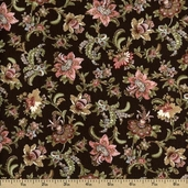 Antoinette Cotton Fabric - Brown 01292-77