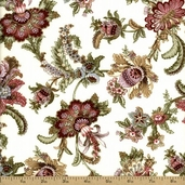 Antoinette Cotton Fabric - Cream 01291-07