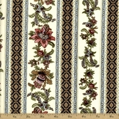Antoinette Cotton Fabric - Cream 01293-07