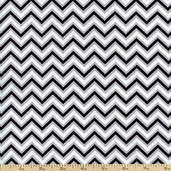 Anything Goes Small Chevron Cotton Fabric - Black