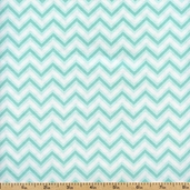 Anything Goes Small Chevron Cotton Fabric - Turquoise
