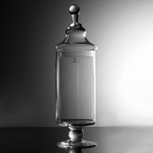 Apothecary Jar 14 in - Clear Glass