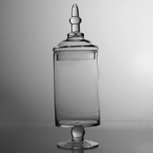 Apothecary Jar 15in - Clear Glass