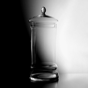 Apothecary Jar 16in - Clear Glass - Clearance