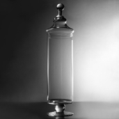 Apothecary Jar 17.5in - Clear Glass