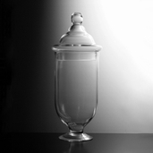 Apothecary Jar 17in - Clear Glass