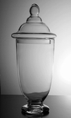 Apothecary Jar 18in - Clear Glass