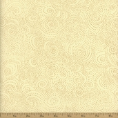 Apple Cider Swirl Dot Cotton Fabric - Natural