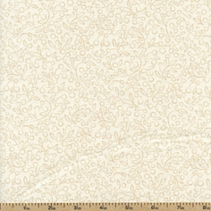 Apple Cider Twigs Cotton Fabric - Natural