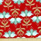 Apple Of My Eye Cotton Fabric - Floral - Red