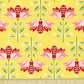Apple Of My Eye Cotton Fabric - Floral - Yellow