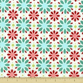 Apple Of My Eye Cotton Fabric - Petals - Red