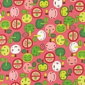 Appleville Cotton Fabric - Fuchsia - ASD-11466-108
