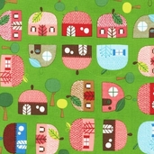 Appleville Cotton Fabric - Grass - ASD-11467-47 - Clearance