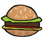 Apron Iron On Appliques - Burger