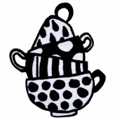 Apron Iron On Appliques - Tea Cups