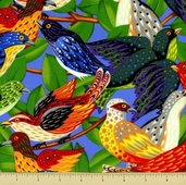 Ark For Birds Cotton Fabric - Birds - Multi