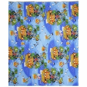 Ark for Birds Scenic Cotton Fabric - Ocean