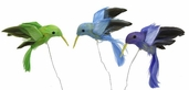 Artificial Feather Bird 3in. - Pastel Hummingbirds - Pkgs of 3