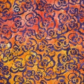 Artisan Batiks Flower Fest Cotton Fabric - Saffron