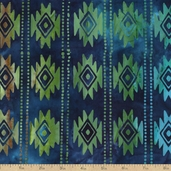 Artisan Batiks Ikat Santa Fe Trail 4 Fabric - Lake