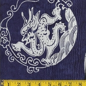 Asian Legacy Batik Cotton Fabric - Navy