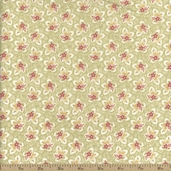 Attic Treasures Small Floral Cotton Fabric - Green