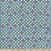 Aunt Grace Authentics Leaves Cotton Fabric - Teal 2442-0314