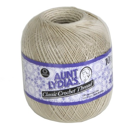 Aunt Lydia's Classic Crochet Thread - Size 10 - Natural - 1000yds