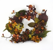 Autumn Foliage Candle Ring 12in