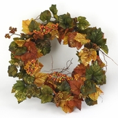 Autumn Foliage Glitter Wreath - 22 inch