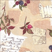 Autumn Letters Cotton Fabric