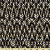 Autumn Plume Diamond Cotton Fabric - Neutral CM8671