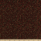 Autumn Reflections Dot Cotton Fabric - Black